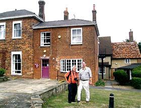 David and Ian outside Walsworth House