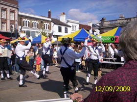 Morris Dancers in the Market Place
