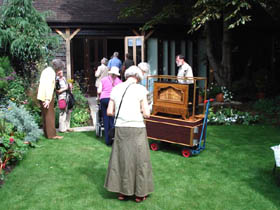 Members listen to one of our host's mechanical organs
