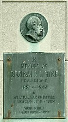 The Reginald Hine memorial